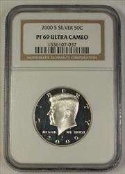 2000 S US Kennedy  Half  50c  NGC UCAM Ultra Cameo