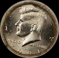 2001 D Kennedy Half  $10 OBW Roll American s