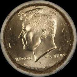 2001 Kennedy Half  $10 OBW Roll American s