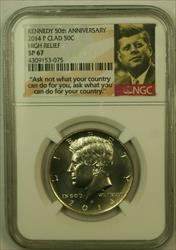 2014 Kennedy Half  50c NGC SP 67 High Relief Clad 50th Anniversary