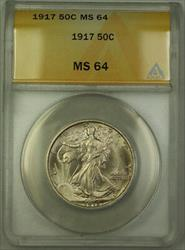 1917 Walking Liberty  Half  50c ANACS JMX