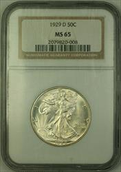 1929 D Walking Liberty Half  50c   NGC JAB
