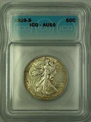1929 S Walking Liberty  Half  50c  ICG
