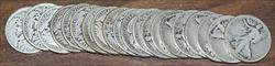 1929 S Walking Liberty Half  50c Roll 20 Circulated 90%  s Lot
