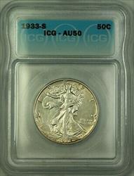 1933 S Walking Liberty  Half  50c  ICG (Better )