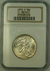 1933 S Walking Liberty Half  50c   NGC JAB