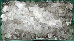 1892 1916 Lot of 10  Barber Quarters 25C AG