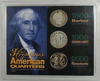 1899 Barber 1926 Standing Liberty and Massachusetts P State Quarters Three s