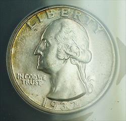 1932 D  Washington Quarter ANACS (Better  SPL) Toned Key Date RF