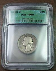 1932 D Washington  Quarter ICG  Key Date