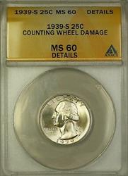 1939 S Washington  Quarter ANACS Details (Better  Very Choice)