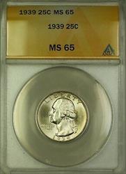 1939 Washington  Quarter 25c  ANACS GEM BU