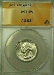 1939 Washington Quarter 25c  ANACS (Better ) (WW)