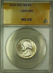 1940 Washington  Quarter 25c ANACS GEM BU (Better ) (B)