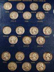 Complete Washington Quarters 1932 1964  Album  Whitman Classic #9418