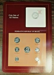 Coin Sets of All Nations Republic of Brazil UNC 7 Coins BU (B)
