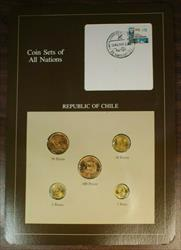 Coin Sets of All Nations Republic of Chile UNC 5 Coins BU