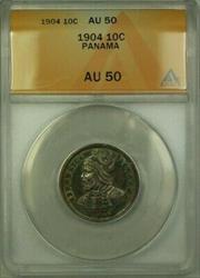 1904 Panama 10 Cent�simos Coin ANACS