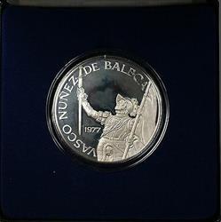 1977 Republic of Panama Twenty Balboa Huge Gem Proof Silver Coin Box and COA
