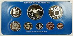 1979 Soloman Islands 8 Coin Proof Set- Sterling Silver $5 $10- w/ Box & COA