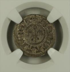 1400-1500 France (Germany) 1 Silver Kreuzer Strasborg Roberts-9070 NGC  AKR