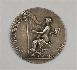 1909 Paris France Bronze Piano Award Medal by Rivets JA