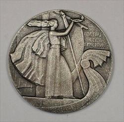 Approximately 1930 France Bronze Art Decco Medal JA