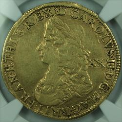 1660-1662 England Gold Unite Coin Charles II S-3304 Coin NGC