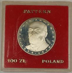 1979 100 Zloty Polish Silver Proof Commemorative Zamenhof Coin