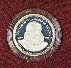 1980 Portugal V1 Centario Da Mortre Luis Vaz De Camoes 1000 Escudos Silver Coin