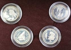 1988 Portugal Descobrimentos 4 Silver Coin Proof Set 100 Escudos OGP COA