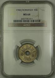 1906-J Romania Silver 10B Bani Coin NGC