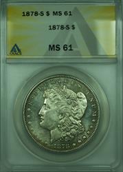 1878 S Morgan   $1  ANACS (Better) Lightly Toned (28)