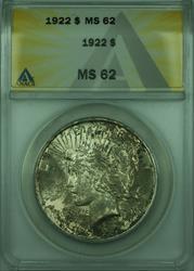 1922 Peace   $1  ANACS Toned Better  (28)