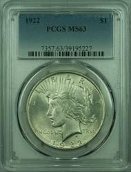 1922 Peace   $1  PCGS (27) B