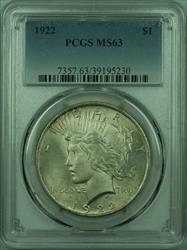 1922 Peace   $1  PCGS (27) E