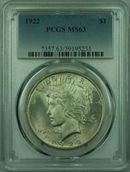 1922 Peace   $1  PCGS (27) F