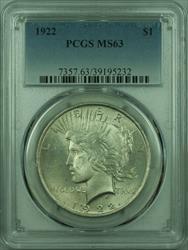 1922 Peace   $1  PCGS (27) G