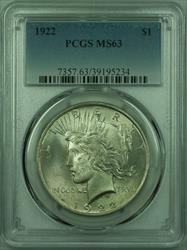 1922 Peace   $1  PCGS (27) I
