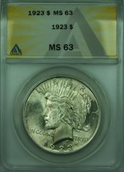 1923 Peace   $1  ANACS (28) A