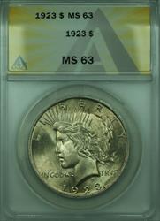 1923 Peace   $1  ANACS (28) B