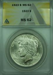 1923 Peace   $1  ANACS Better  (28) A