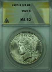 1923 Peace   $1  ANACS Better  (28) B
