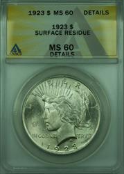 1923 Peace   $1  ANACS Details Better  (28) A