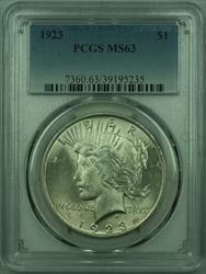 1923 Peace   $1  PCGS (27) A