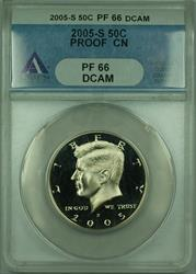 2005 S Proof Kennedy Half  50c ANACS DCAM