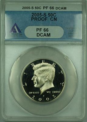 2005 S Proof Kennedy Half  50c ANACS DCAM