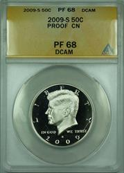 2009 S Proof Kennedy Half  50c ANACS DCAM