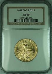 1987 $25 1/2 Oz American  Eagle AGE  NGC