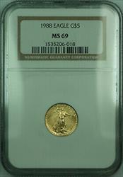 1988 $5 1/10th Oz American  Eagle AGE  NGC